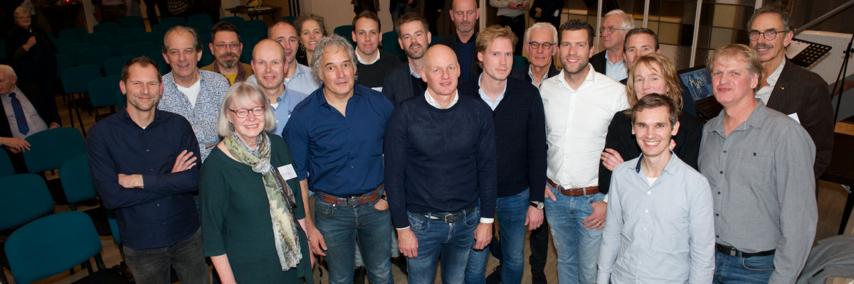 Groepsfoto Winnaars, jury en wethouder - Puienprijs 2019 HVA - foto Laurens Overtoom 13 11 2019