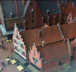 Maquette Stedelijk Museum Waagplein 17e-eeuw detail